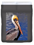 Pelican Head Shot Duvet Cover