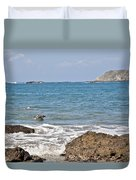 Pelican In The Water Duvet Cover
