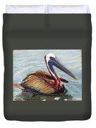 Pelican In The Water Duvet Cover