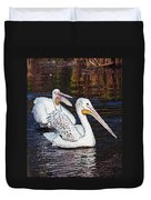 Pelican Love Duvet Cover