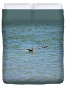 Pelican On The Move Duvet Cover