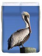 Pelican Pose Duvet Cover