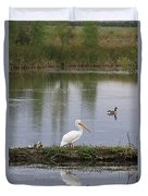 Pelican Reflection Duvet Cover