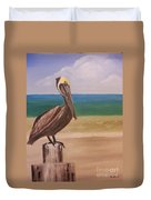 Pelican Rest Stop Duvet Cover