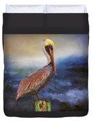 Pelican Seas Duvet Cover
