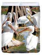 Pelican Squabble Duvet Cover
