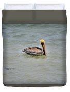 Pelican Swimming  Duvet Cover
