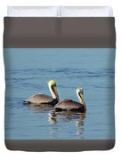 Pelicans 2 Together Duvet Cover
