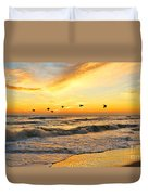 Pelicans At Sunrise  Signed 4651b 2  Duvet Cover