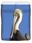 Pelican's Good Side Duvet Cover