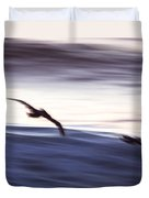 Pelicans Ocean Flight In La Jolla Duvet Cover