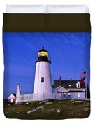 Pemaquid Point Lighthouse Maine Duvet Cover