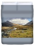 Pen Yr Ole Wen And Tryfan Mountain Duvet Cover