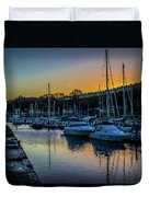 Penarth Harbour In Wales Duvet Cover