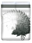 Pencil Drawing Of Maple Leaves Duvet Cover