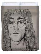 Pencil Portrait Of John Lennon  Duvet Cover