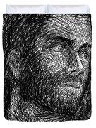 Pencilportrait 04 Duvet Cover