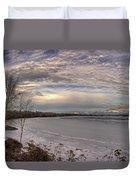 Pend D'oreille Lake Panorama Duvet Cover