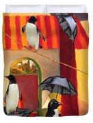 Penguin Cafe Duvet Cover