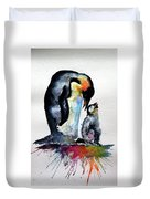 Penguin With Baby Duvet Cover