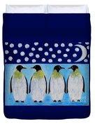 Penguins Talking Duvet Cover