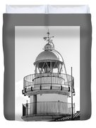 Peniscola Lighthouse Of Spain Duvet Cover