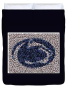 Penn State Bottle Cap Mosaic Duvet Cover