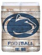 Penn State // Football // Distressed Wood Duvet Cover