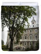 Penn State Old Main From Side  Duvet Cover