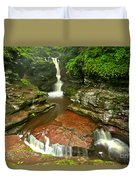 Pennsylvania Red Rock Falls Duvet Cover