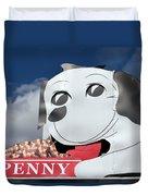 Penny Dog Food Sign 3 Duvet Cover