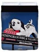 Penny Dog Food Sign 1 Duvet Cover
