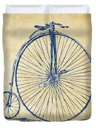 Penny-farthing 1867 High Wheeler Bicycle Vintage Duvet Cover by Nikki Marie Smith