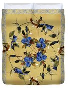 Penny Postcard Silk-stitched Duvet Cover