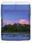 Pensacola Lighthouse Dusk Duvet Cover