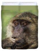 Pensive Baboon Duvet Cover