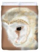 Pensive Barn Owl Duvet Cover