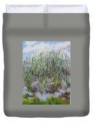 Pensive Grasses Duvet Cover