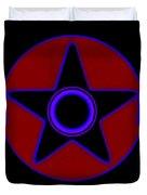 Pentagram In Red Duvet Cover