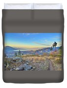 Penticton In The Distance Duvet Cover
