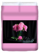 Peonies - Beauty The Brave Duvet Cover