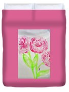 Peonies In Bloom Duvet Cover