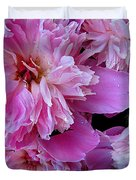 Peonies Under The Weather Duvet Cover