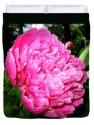 Peony And Raindrops Duvet Cover