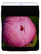 Peony Blossom Opening Duvet Cover