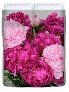 Peony Bouquet Duvet Cover