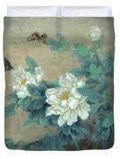 Peony Butterfly Duvet Cover