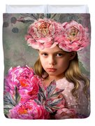 Peony Flower Child Duvet Cover