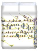 People And Birds. 18 March, 2016 Duvet Cover
