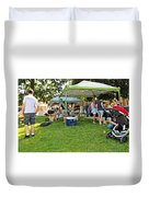 People At Food Event 3 Duvet Cover